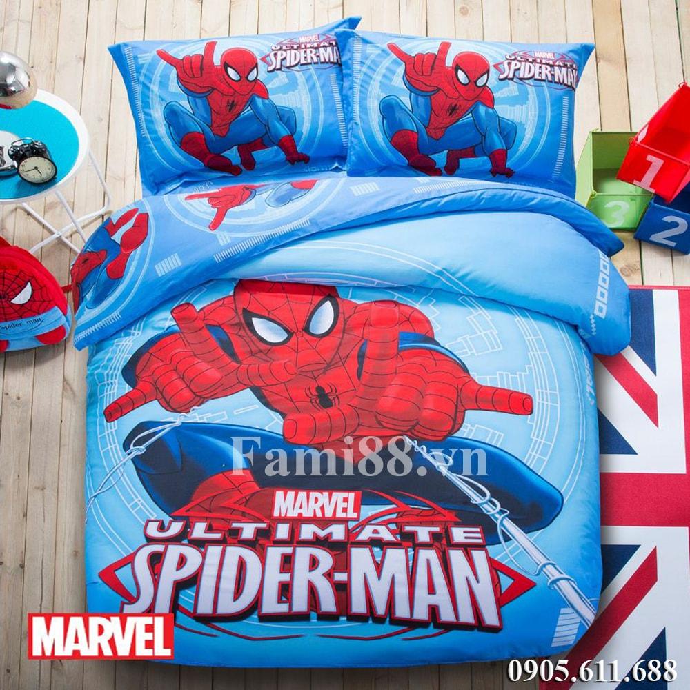 Chăn ga gối người nhện Spider Man