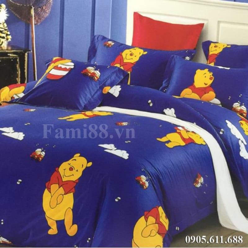 Bộ mền drap hình gấu Pooh