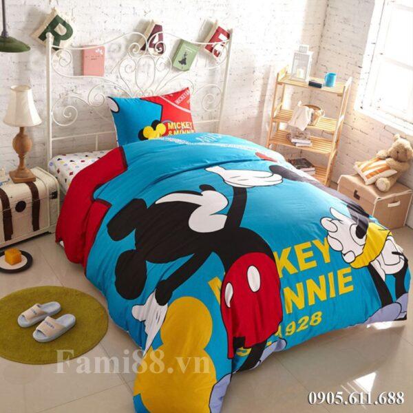Chăn ga hình chuột Mickey