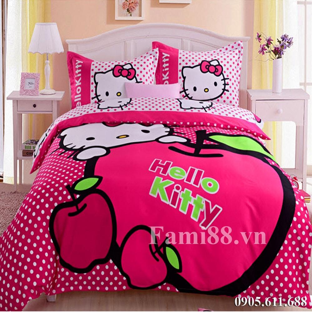 Chăn ga gối Hello Kitty