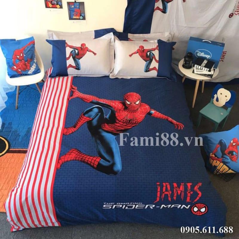 Sưu tập chăn ga gối người nhện Spider Man
