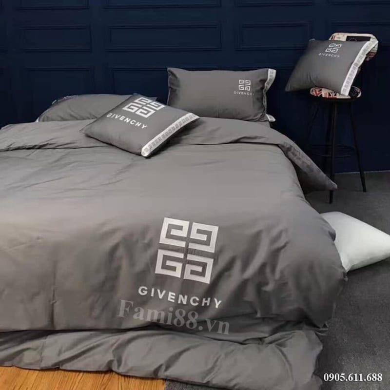 Chăn ga thương hiệu Givenchy màu xám