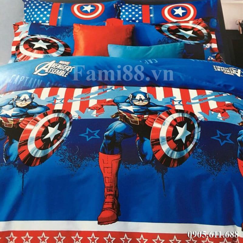 Chăn ga gối đội trưởng Mỹ Captain America