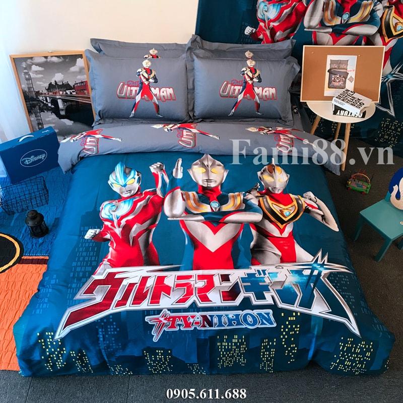 Chăn ga gối hình siêu nhân Ultraman