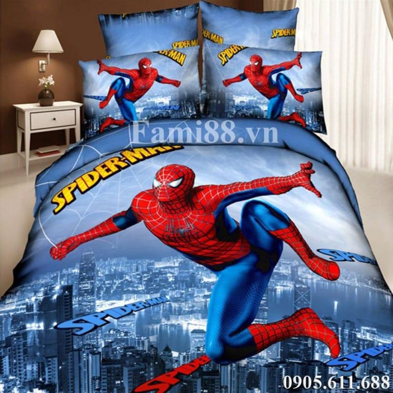 chăn ga gối người nhện
