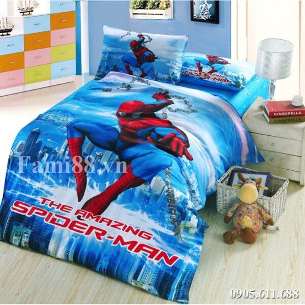 Chăn ga gối Spider Man