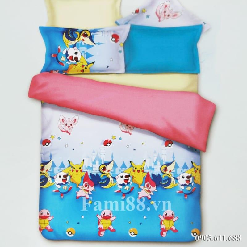 Chăn ga hình Pokemon Pikachu