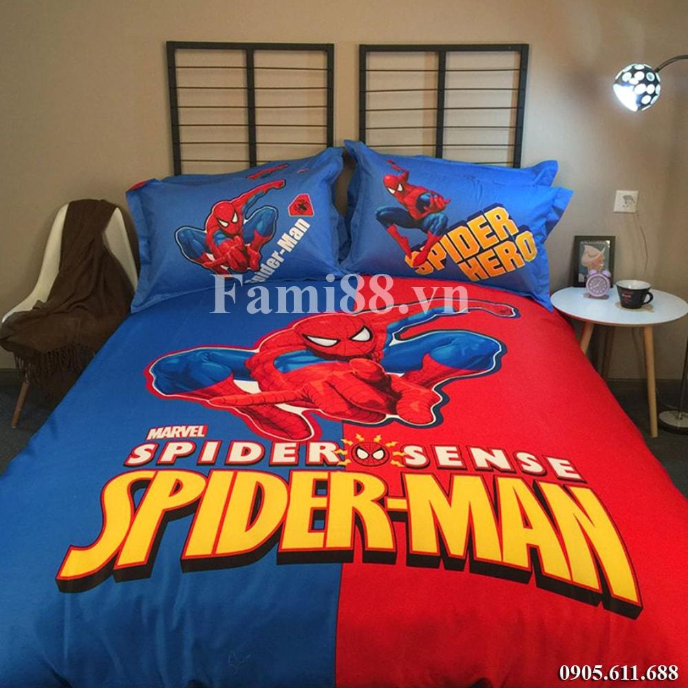 Bộ chăn ga gối đệm hình người nhện Spiderman