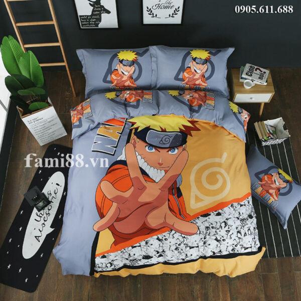 Chăn ga gối đệm hình Naruto