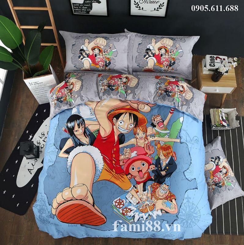 Chăn ga gối đệm hình One Piece
