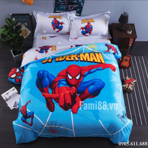 Chăn ga gối cho bé trai Spiderman
