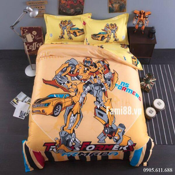 Chăn ga gối siêu nhân Transformers