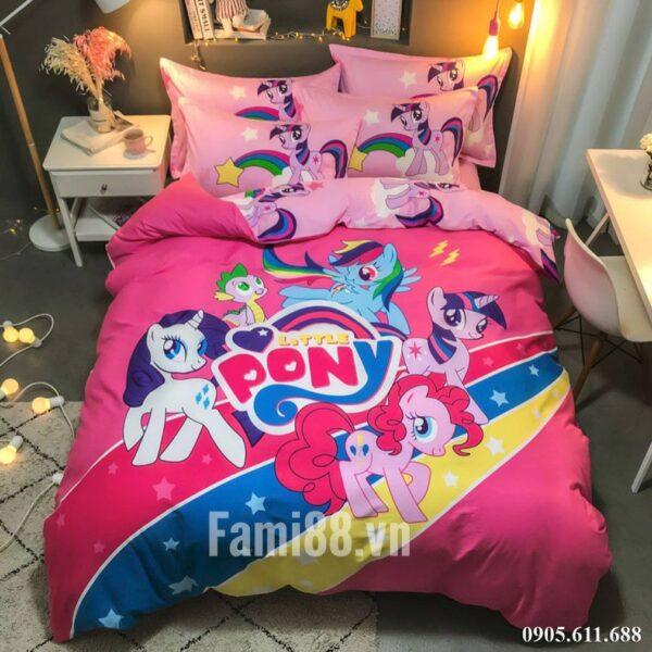 Chăn ga gối hình Ngựa Pony