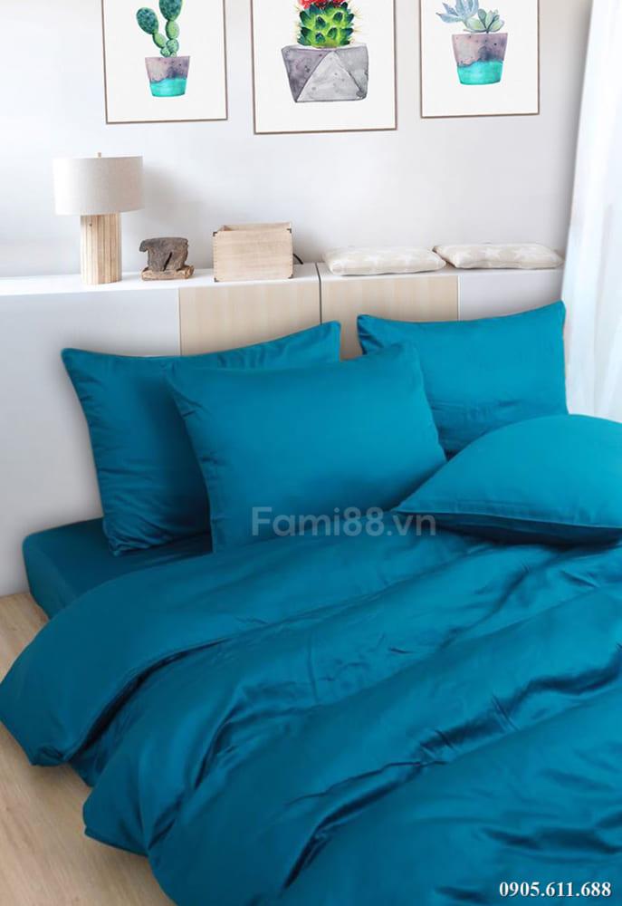Chăn ga gối màu xanh Zircon