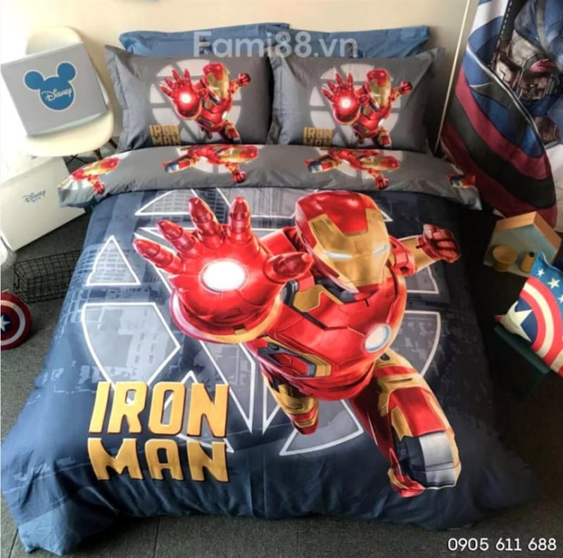 Bộ chăn ga gối Iron Man
