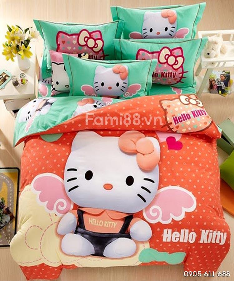Chăn ga Hello Kitty cho bé