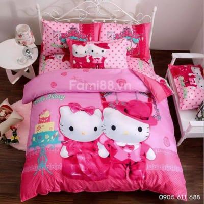 Chăn ga Hello Kitty dễ thương