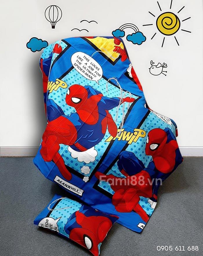 Chăn người nhện Spiderman cho bé