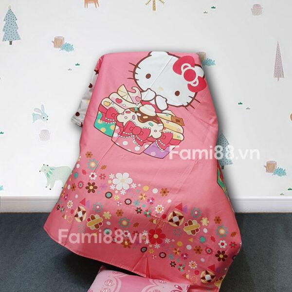 Chăn trần bông cho bé Hello Kitty