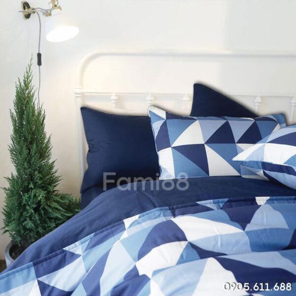 Chăn ga gối màu xanh navy